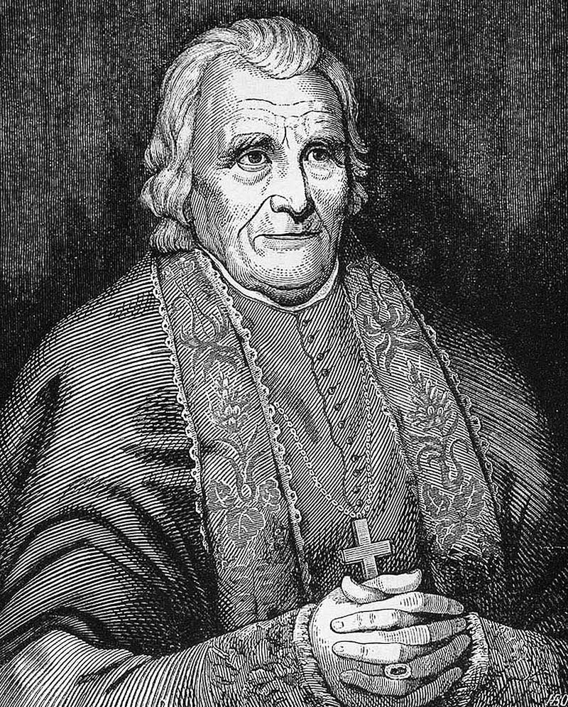 French-born Bishop Benedict Joseph Flaget, Bishop of Bardstown (1808-1851) was unable to field missionary priests to the distant northern Kentucky city of Covington, which was in the Diocese of Bardstown. Cincinnati's Bishop John Baptist Purcell happily honored Flaget's request that he assume episcopal oversight of Covington's catholic population. [Provided]