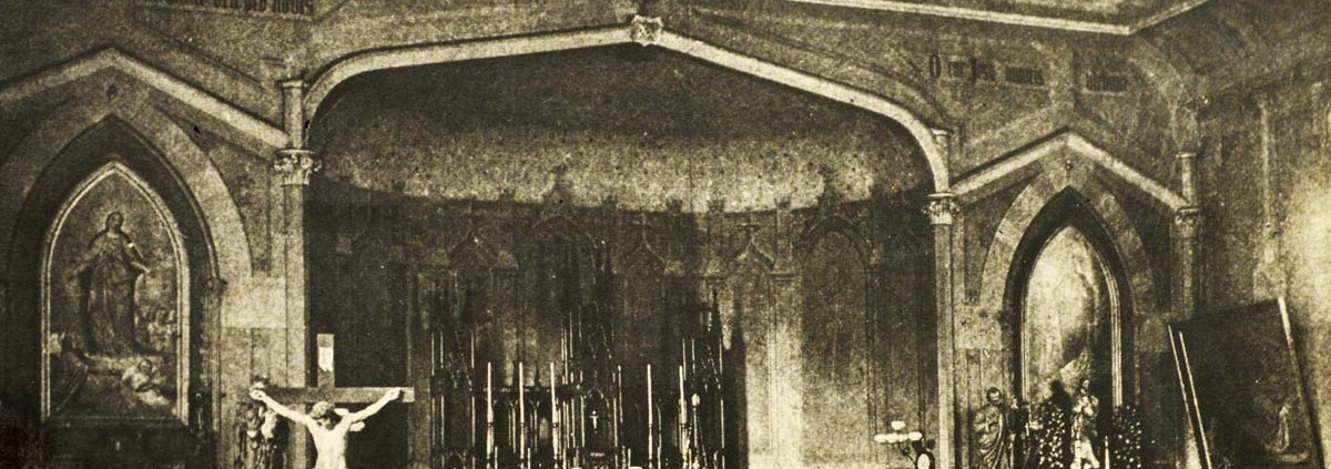 The interior of St. Mary's Cathedral in 1888, just three years after Maes became Bishop of Covington. Archives of the Diocese of Covington.